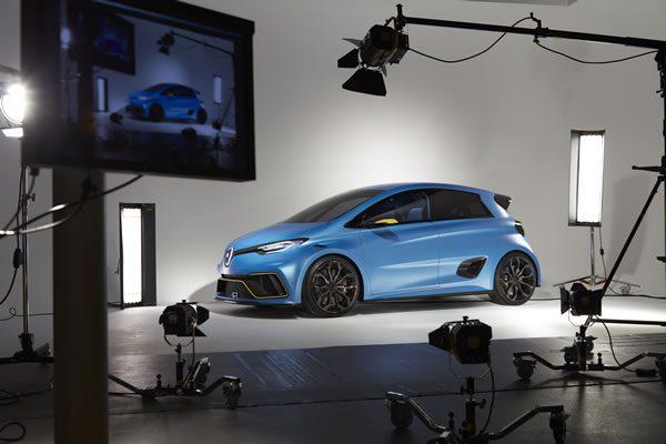 ルノー「Zoe e-Sport Concept」、リアルのサイド画像その2