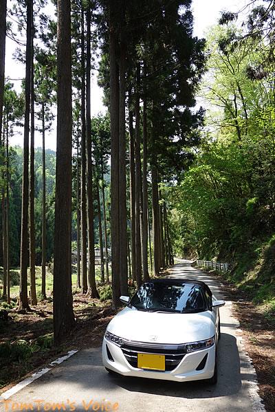 S660で行く若狭走りまくりのプチ弾丸ツアー、京北町で162号線を横切ってから道が狭くなったところ