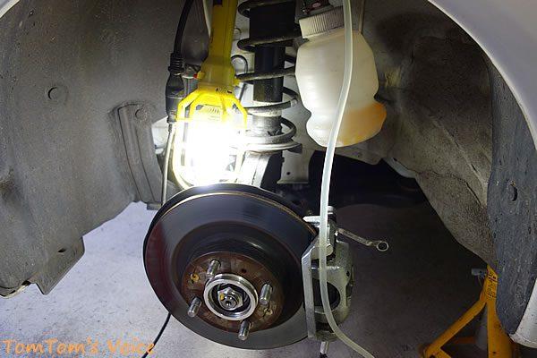 S660のエア抜き作業、フロント