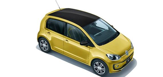 VWの2017UP!、ハニーイエローメタリックの2トーンバージョン