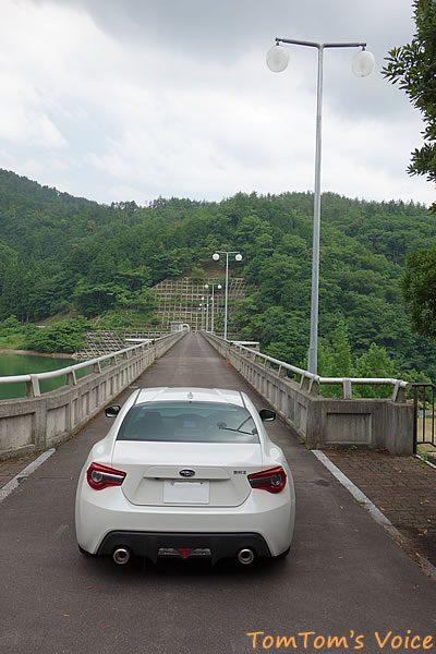 BRZで行く豊岡鞄プチ弾丸ツアー、三和町から春日町への三春峠の途中にある三宝ダム