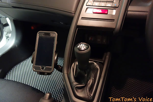 S660にスマートフォンフォルダー装着その3