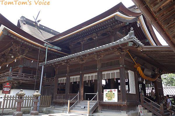 S660で行く桃太郎伝説を訪ねる弾丸ツアー、吉備津神社の本殿