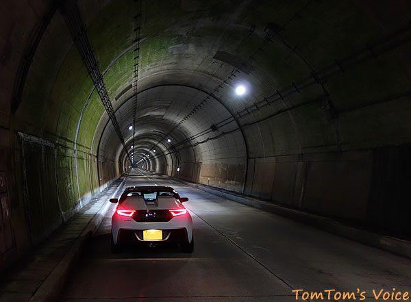 S660で行く桃太郎伝説を訪ねる弾丸ツアー、傘杉トンネルにて