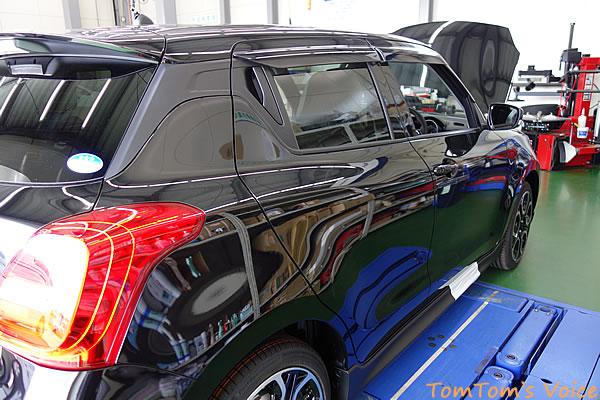 新型スイスポZC33S、ボディサイドの様子