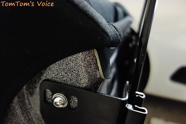 S660に「A.i.R.」取り付け、前を一番下にするとスライドレバーと干渉する