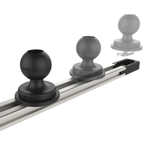 RAM MOUNTSのRAM-TRACK-EXA-5Uというボール台座を固定するためのレール