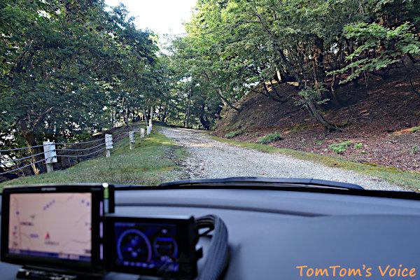 森林基幹道「妙見・蘇武線」の八鹿側には短いが未舗装区間がある